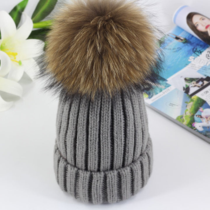 High Quality Winter Knited Hat For Women With Pom Pom - Zorket