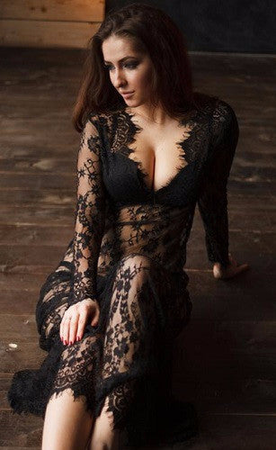 Dress – Floor-Length Sexual Lace Dress | Zorket