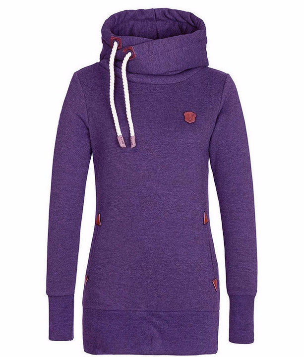 Solid Color Women's Casual Fleece Hoodie - Zorket