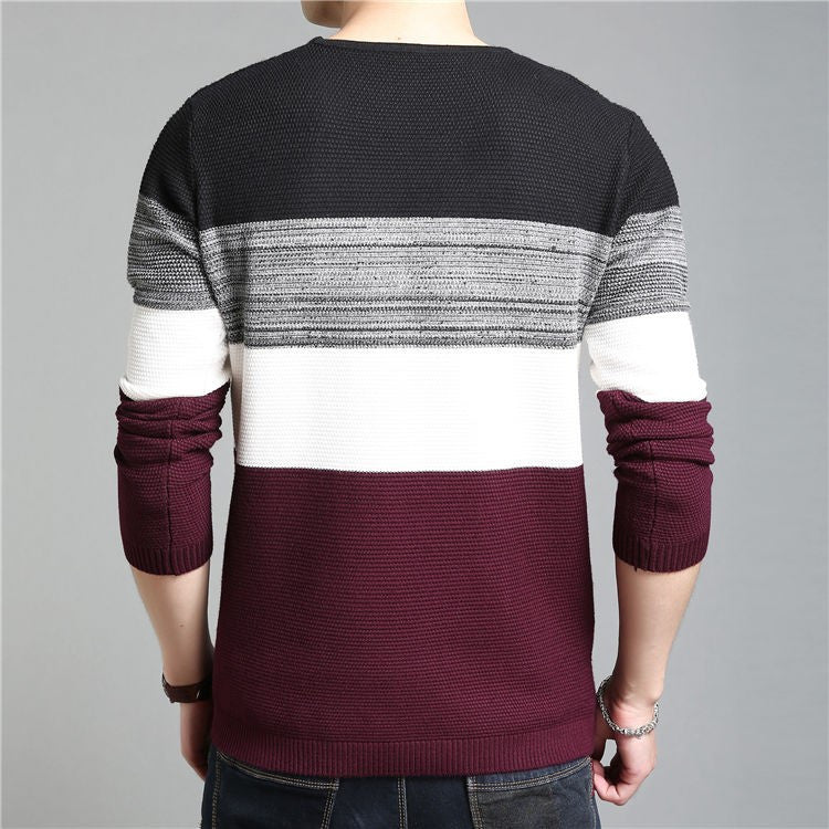 Men's Long Sleeve Slim Fit Pullovers - Zorket