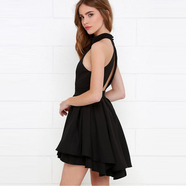 Women's A-Line Halter Mini Dress