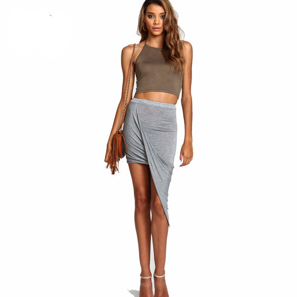 Skirt – Draped Cut Out Asymmetrical Skirt | Zorket