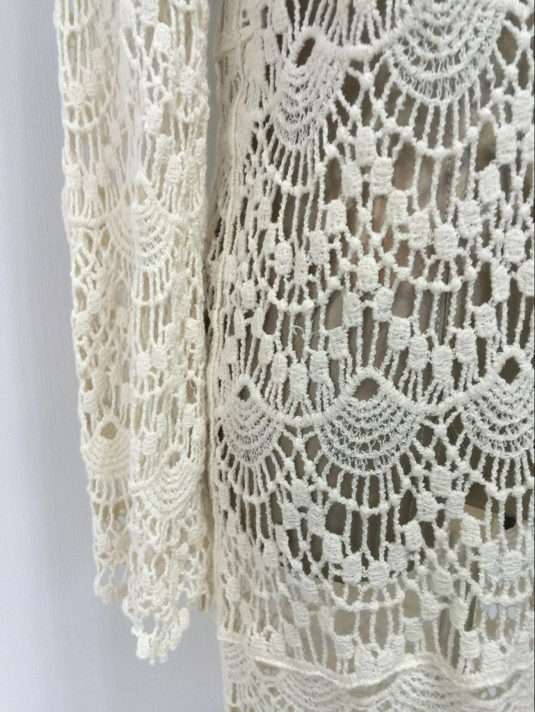 V-Neck Crochet Beach Dress - Zorket