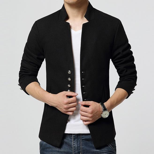 Men's Short Single Breasted Casual Blazer