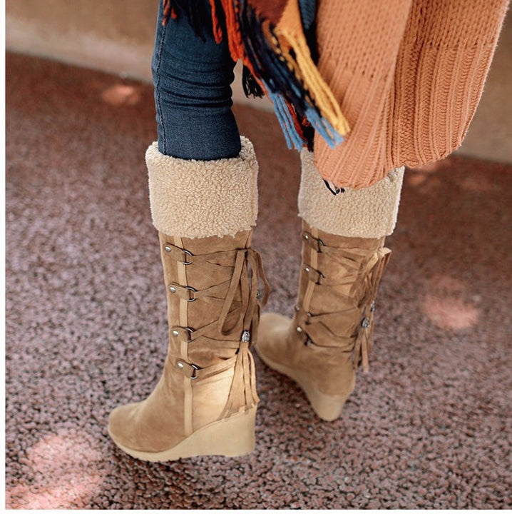 Boots – Fashion Plush Women's Knee-High Slip-Resistant Snow Boots | Zorket