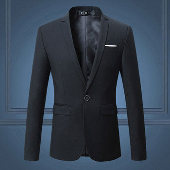 Men's Fashion Slim Fit Single Button Suit Jacket - Zorket