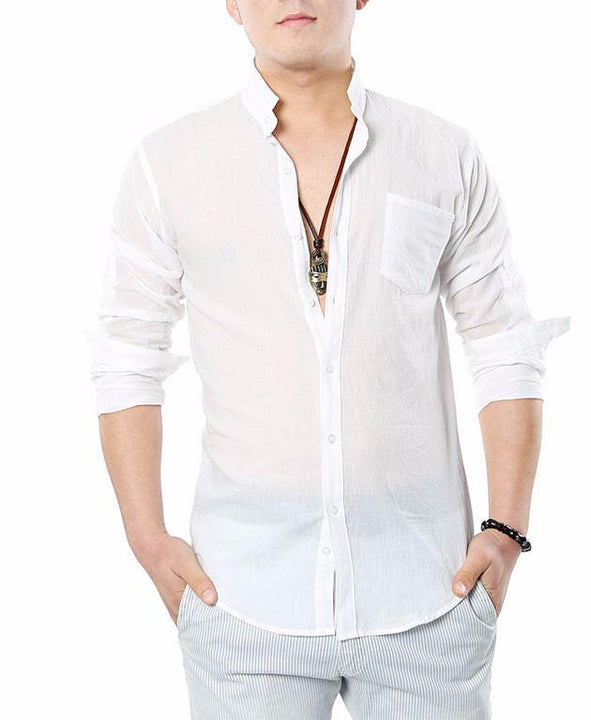 Men's High Quality Cotton & Linen Shirt