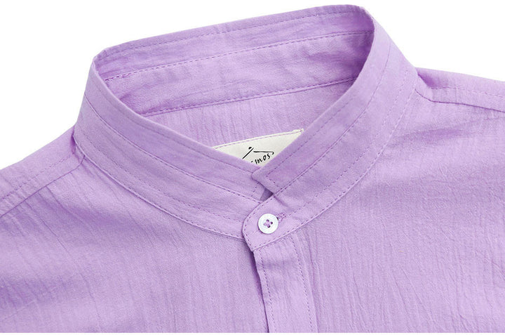 Men's High Quality Cotton & Linen Shirt - Zorket