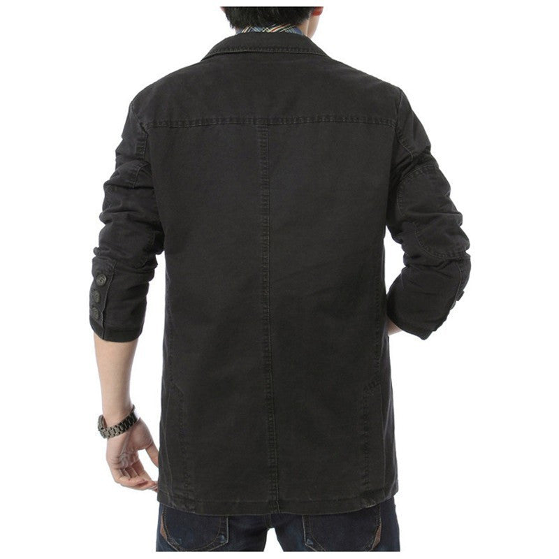 Autumn Casual Denim Men's Blazer - Zorket