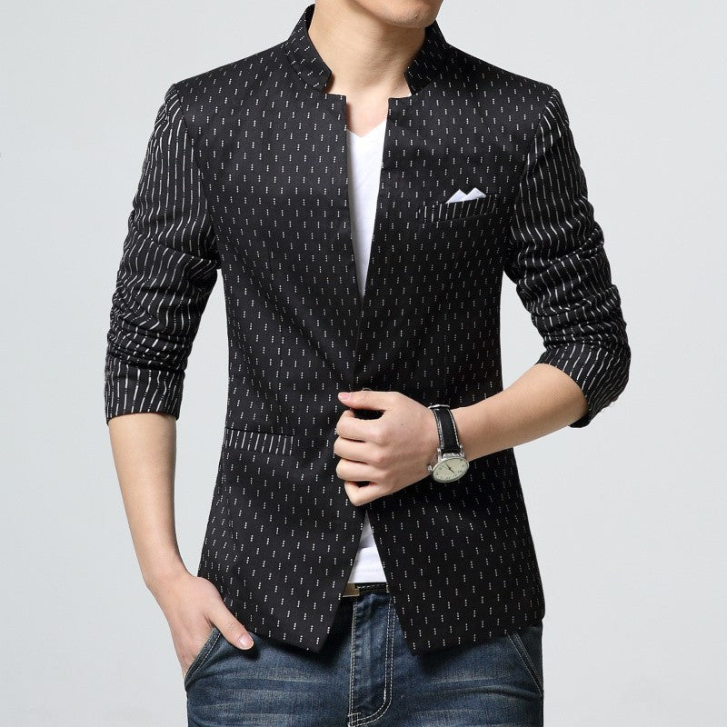 Men's Printied Casual Slim Fit Blazer - Zorket
