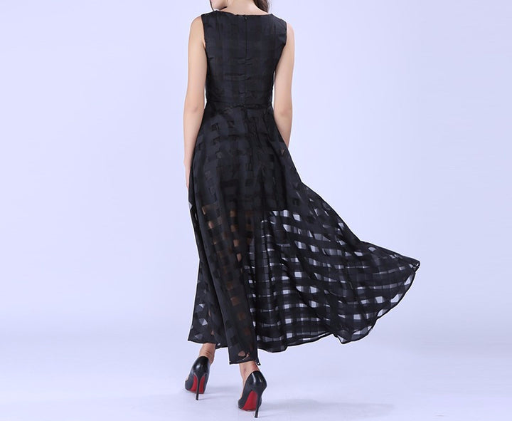 Women's Summer Plaid Maxi Dress - Zorket