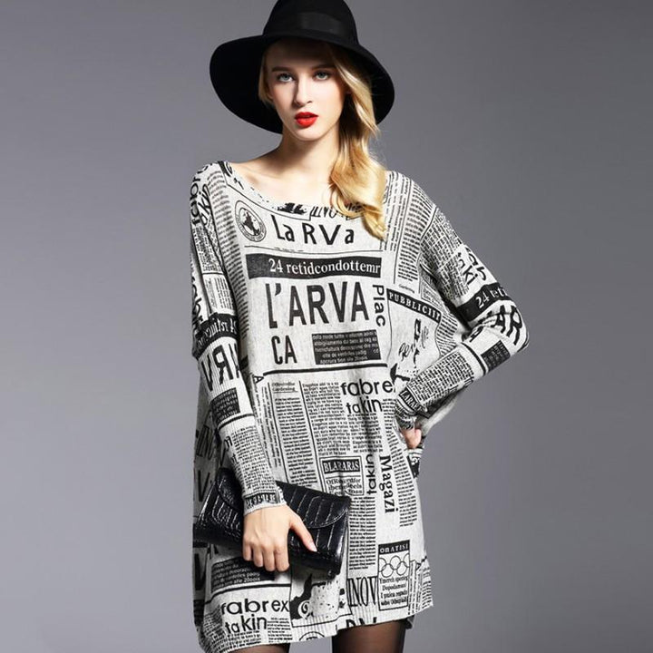Women's Autumn Casual Knitted Sweater Dress