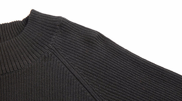 Pullover – Men's Black Slim Fit Knitted Pullover | Zorket