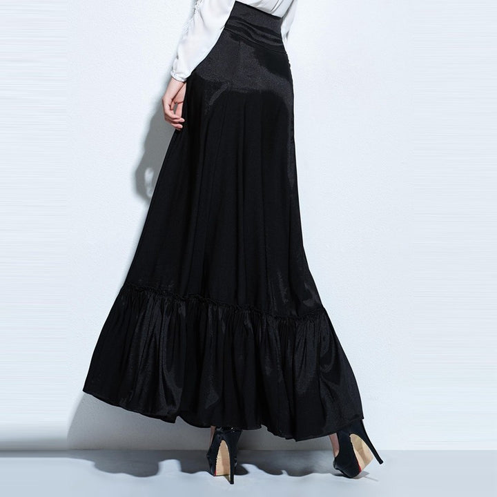 Women's Mid-Calf Long Vintage Gothic Skirt - Zorket