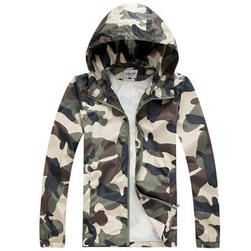 Men's Camouflage Casual Zippered Hoodie