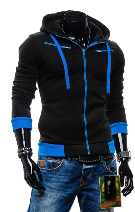 Men's Casual Sports Slim Hooded Sweatshirt