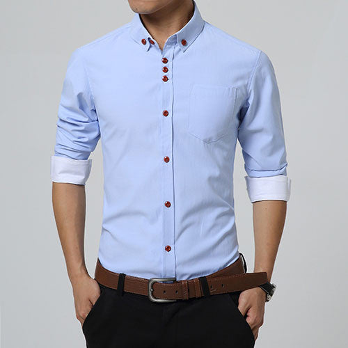 Shirt – Men's Casual Solid Color High Quality Shirt | Zorket