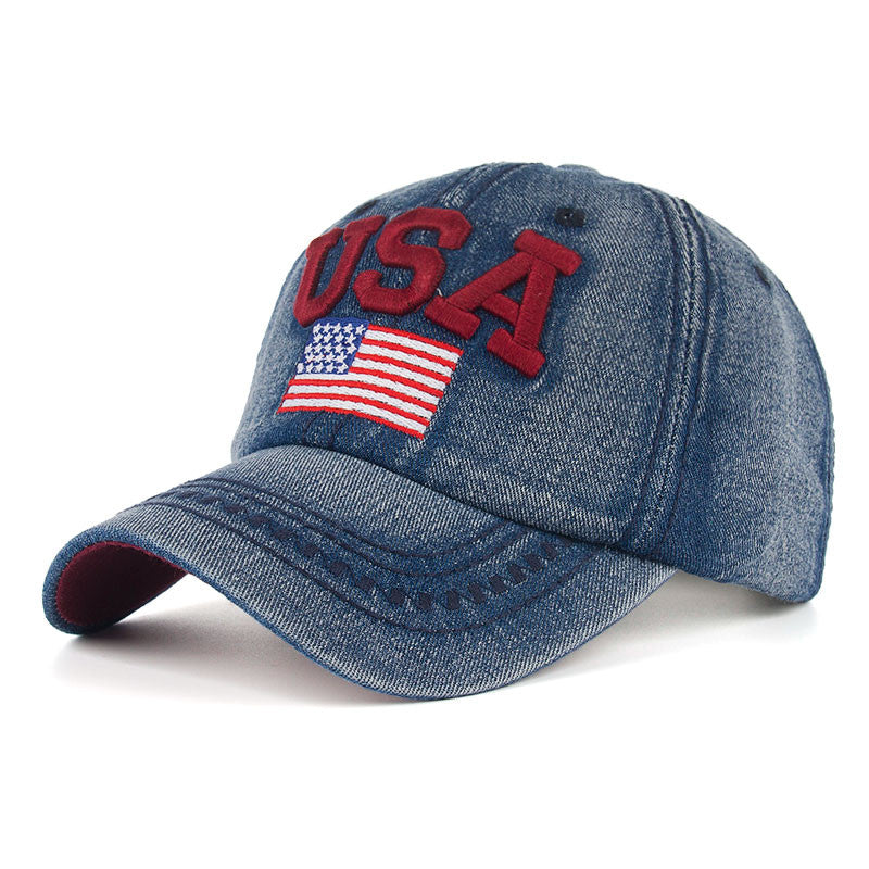 Cotton USA Embroidery Jeans Baseball Cap - Zorket