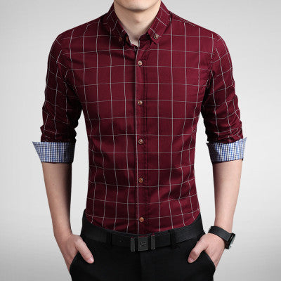 Men's Turn-Down Collar Casual Slim Fit Shirt - Zorket