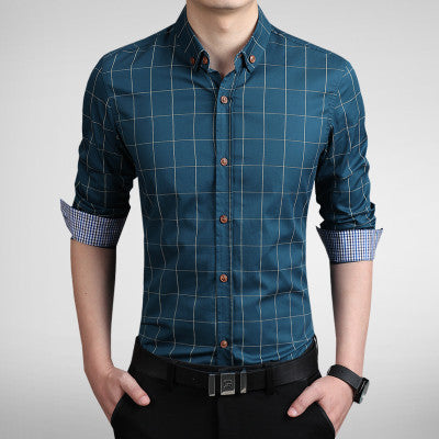 Shirt – Men's Turn-Down Collar Casual Slim Fit Shirt | Zorket