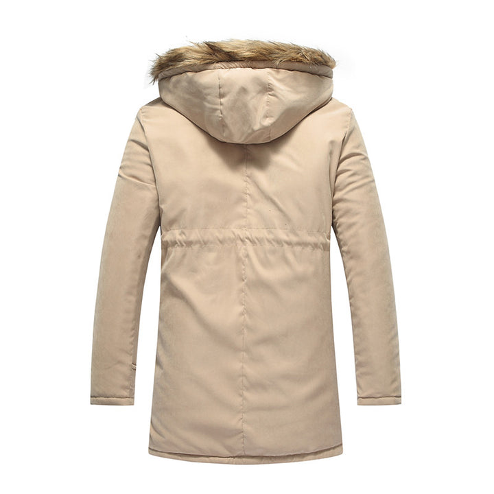 Men's Casual Thick Warm Middle-Long Parka - Zorket