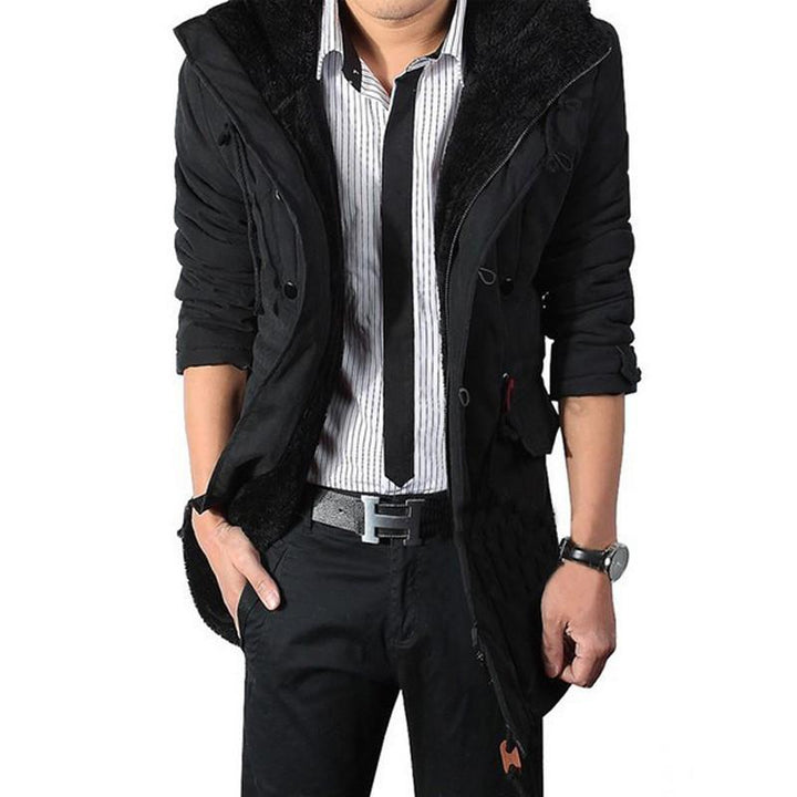 Men's Casual Thick Warm Middle-Long Parka