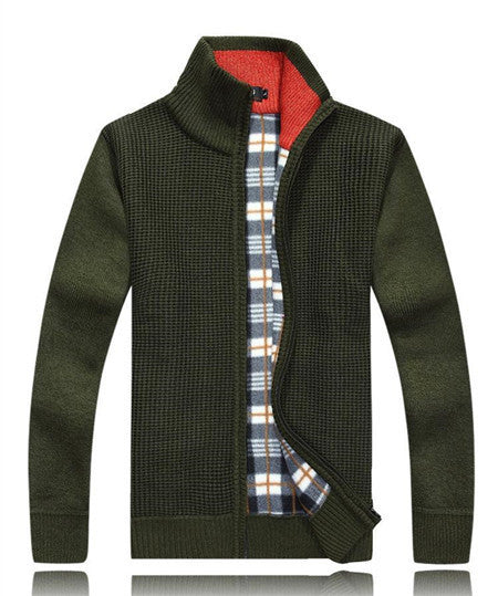 Men's Wool & Cotton Winter Zipped Sweater - Zorket