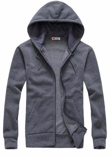 Men's Solid Color Casual Hooded Sweatshirt - Zorket