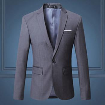 Men's Fashion Slim Fit Single Button Suit Jacket