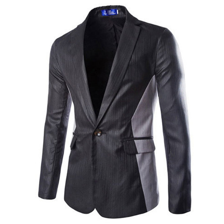 Blazer – Casual Single Button Slim Fit Patchwork Blazer | Zorket