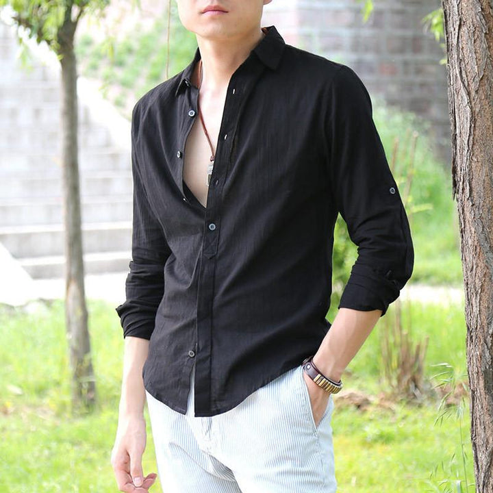 Men's Casual Top Quality Cotton & Linen Shirt