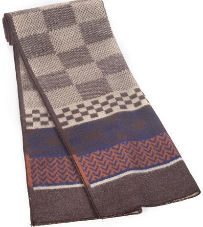 Fashionable Mix Plaid Color Scarf For Men