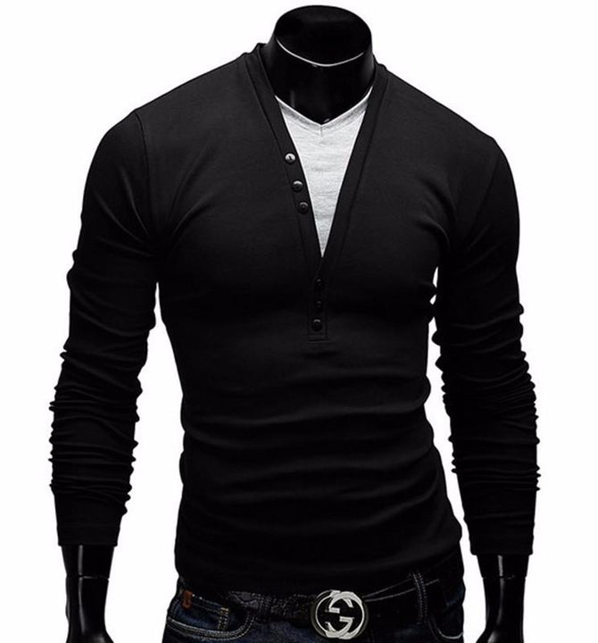 Men's Long Sleeve Slim Fit T-Shirt