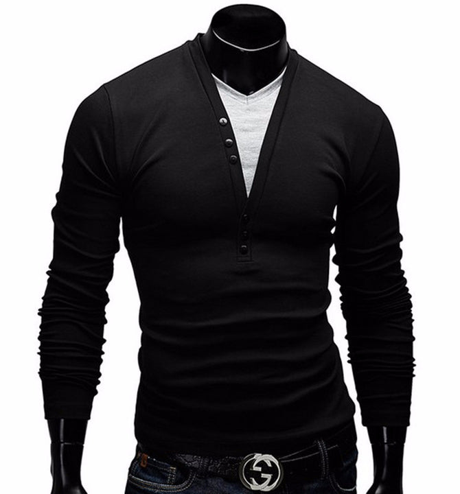 Men's Long Sleeve Slim Fit T-Shirt - Zorket