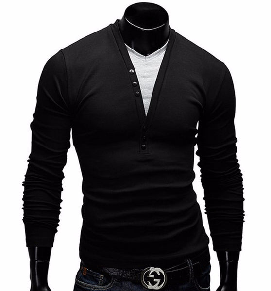 T-Shirt – Men's Long Sleeve Slim Fit T-Shirt | Zorket
