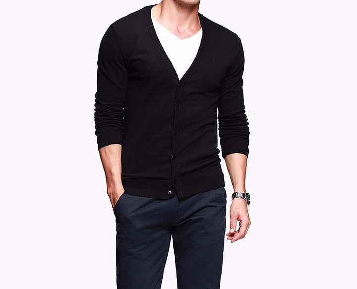 Men's Cotton Slim Fit Casual Cardigan - Zorket