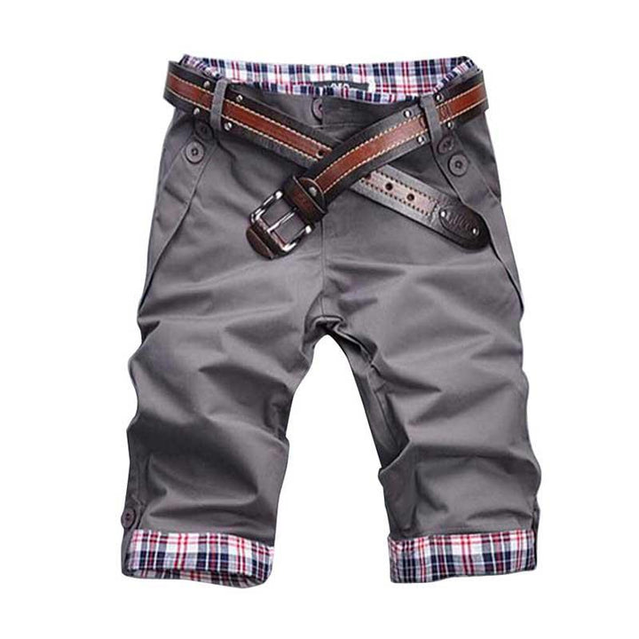 Men's Fashion Summer Casual Solid Shorts