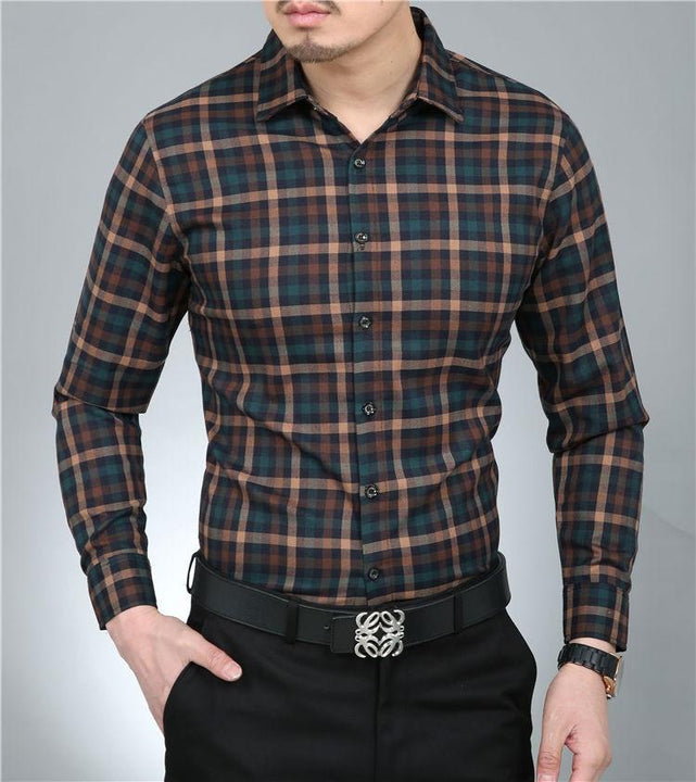 Men's Casual 100% Pure Cotton Dress Shirt