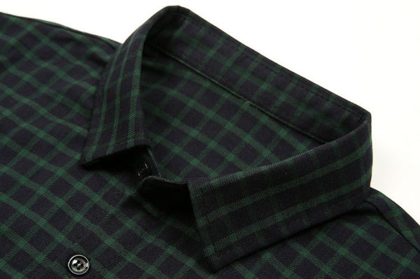 Shirt – Men's Long Sleeve Plaid Dress Shirt, Cotton | Zorket