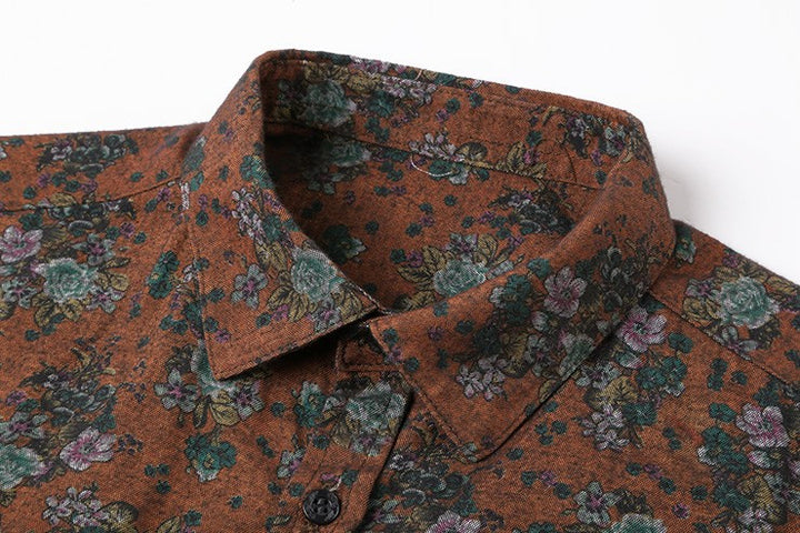 Men's Floral Long Sleeve Shirt - Zorket