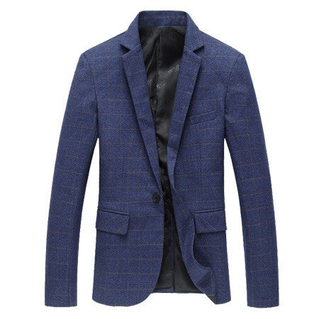 Men's Plaid High Quality Cotton Business Blazer - Zorket
