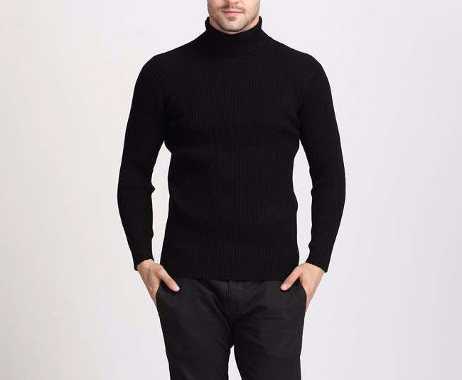 Men's Thick 100% Cashmere Slim Fit Sweater - Zorket