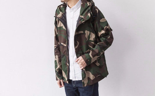 Jacket – Men's Casual Fashion Slim Fit Camouflage Coat | Zorket