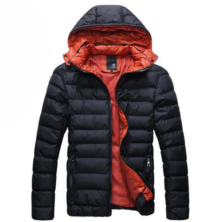 Men's Autumn/Winter Hooded Cotton Jacket