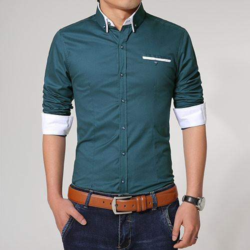 Men's High Quality Slim Fit Casual Shirt