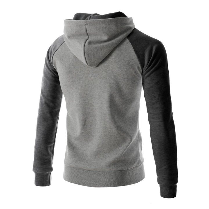 Hoodies & Sweatshirts – Men's Casual Patchwork Color Hooded Sweatshirt | Zorket