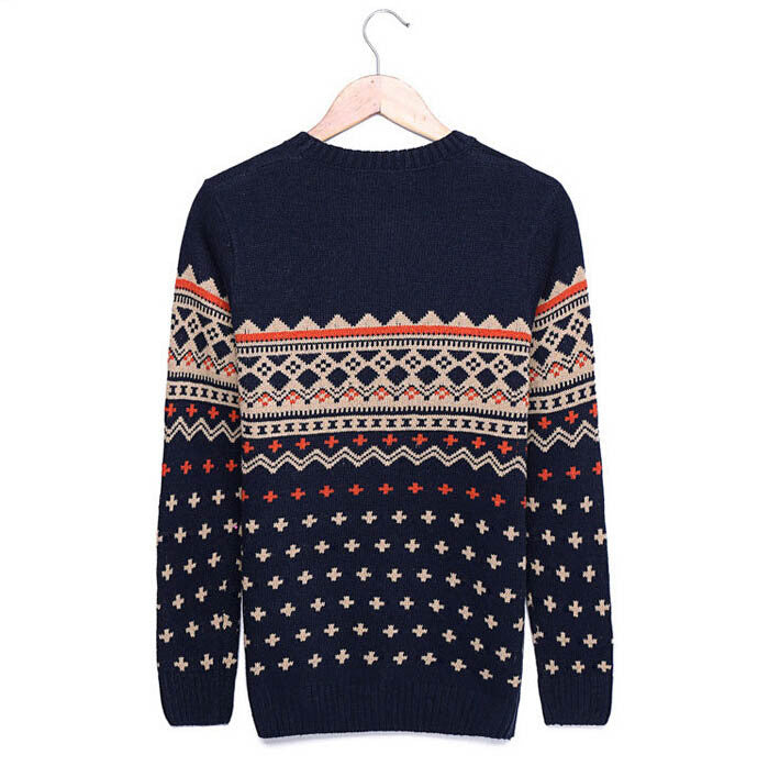 Autumn / Winter Geometric Pattern Casual Sweater For Men - Zorket