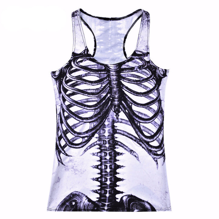 Tank Top – Funny Women's Tank Top With A Picture Of The Skeleton | Zorket