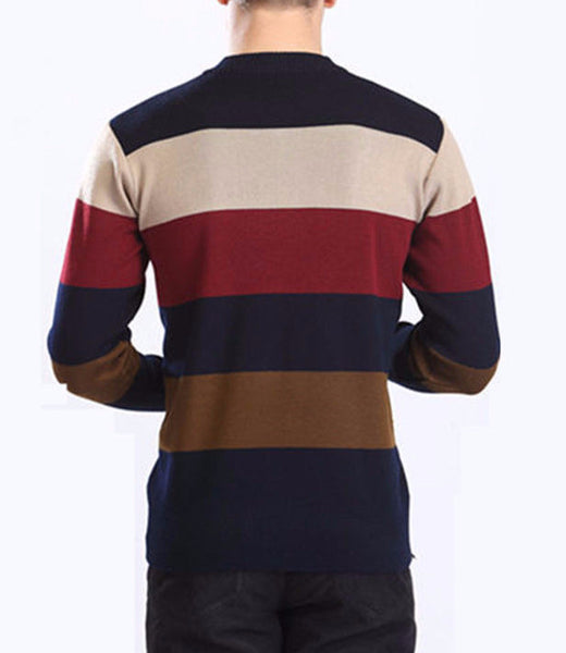 Pullover – Men's High Quality Casual Autumn Striped Sweater | Zorket