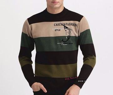 Men's High Quality Casual Autumn Striped Sweater
